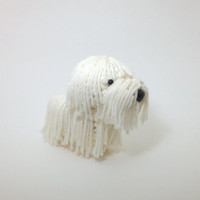 Komondor Stuffed Animal Crochet Dog Amigurumi Puppy Plush Toy Doggie / Made to Order