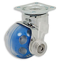 Ball Wheel Caster with Swivel Plate, Locking
