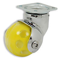 Ball Wheel Caster with Swivel Plate, Non-Locking