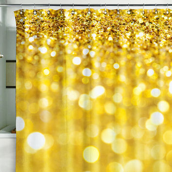bath shower curtain bling glitter sparks from wallnit on etsy