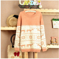 4 Colored Reindeer Fluffy Comfy Jumper 77