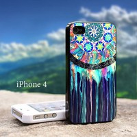 Dream Catcher Blue Iphone 4 / 4s Black Case