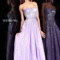 Sherri Hill 8437 Lilac Evening Gown