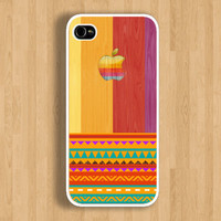 So Hot Apple on Colorful Wood and Aztec Design Case : Iphone 4/4s case Iphone 5 case