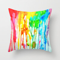 Colors of life : Colors Series 3 Throw Pillow by Sreetama Ray | Society6