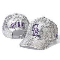 Colorado Rockies Bling Baseball Hat - PINK - Victoria&#x27;s Secret