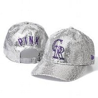 Colorado Rockies Bling Baseball Hat - PINK - Victoria's Secret