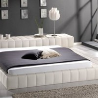 Kartier Contemporary Platform Bed-cream (King)