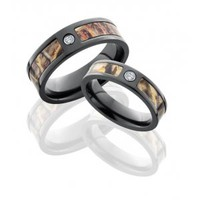 His &amp; Her Camo Wedding Bands | Camo Wedding Rings -Free Shipping