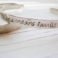 Ohana means family hand stamped inside and out by Lolasjewels