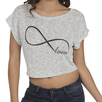 Love Infinity Crop Sweater | Shop Just Arrived at Wet Seal