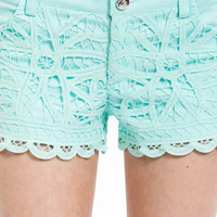 Lace Crochet Shorts $48