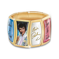 Elvis Flex Charm Bracelet With 24K Gold Accents