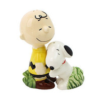 Snoopy Hugging Charlie Brown Salt and Pepper Shakers