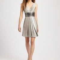 Carmen Marc Valvo - Sequin-Waist Cocktail Mini Dress - Saks.com