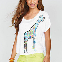 Giraffe Flowers Tee