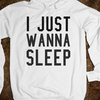 Wanna sleep-Unisex White Hoodie