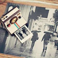 Polaroid Camera Photo Locket - Indie, hipster,lomography necklace