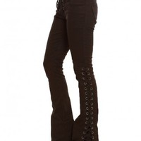 Lace-Up Bell Jeans - Bottoms - Clothes | GYPSY WARRIOR