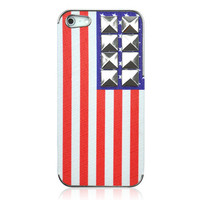 Hot Rivet American Flag Phone Case For iPhone 5 from Hallomall