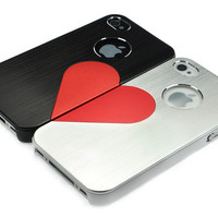 3D Love Metal iPhone Case For Couple