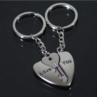 I love you lovers key chain Creative gifts