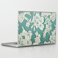 white lace - photo of vintage white lace Laptop &amp; iPad Skin by Sylvia Cook Photography | Society6
