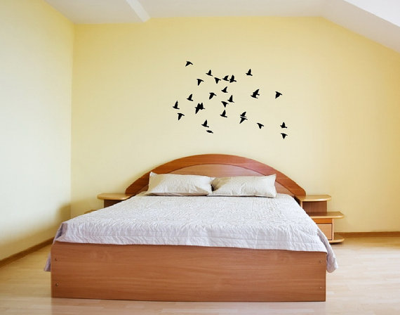 Flock of Birds in Flight Vinyl Wall Decal by CuttinUpCustomDieCut