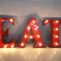 Metal Letter any one  18 inch steel letters light fixture sign lighting