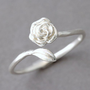 STERLING SILVER ROSE RING WRAP AROUND RING ROSE SHAPED RING from kellinsilver.com