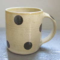 large polka dotted coffee mug