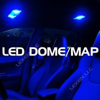 LED BLUE 2X DOME MAP INTERIOR LIGHT BULB 9 SMD CIRCLE PANEL XENON HID LAMP - FITS ALL VEHICLES : Amazon.com : Automotive