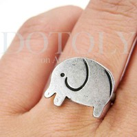 Small Simple Adjustable Elephant Ring | dotoly - Jewelry on ArtFire