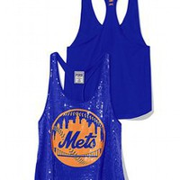 New York Mets Bling Racerback Tank - PINK - Victoria's Secret