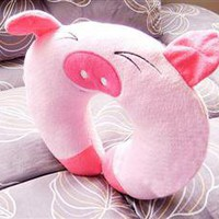 Wholesale Cute Pig Style U Shaped Neck Pillow - DinoDirect.com