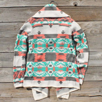 Big Sky Knit Sweater in Mint, Sweet Navajo Inspired Sweaters