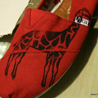 Giraffe TOMS shoes by themattbutler on Etsy