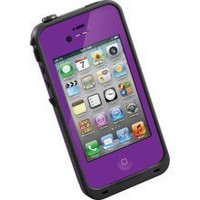 LifeProof Case for iPhone 4 4S Rugged Waterproof Dirtproof Purple