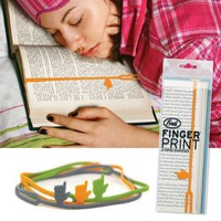 Finger Print Pointing Finger Bookmark