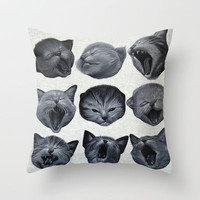 Sleepy Monday Throw Pillow by beart24