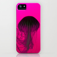 Fuschia Mushroom Jellyfish iPhone Case by Madison Walters | Society6
