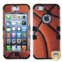 Amazon.com: TUFF Case Hybrid Phone Protector Sports Collection Basketball Design for Apple iPhone 5: Cell Phones & Accessories