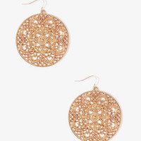 Filigree Circle Earrings | FOREVER 21 - 1000036449