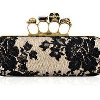 Alexander McQueen Knuckle Duster box clutch