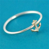 Anchor Stacking Ring - Spiffing Jewelry