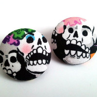 Day of the dead dia de los muertos sugar skulls large by ButtonUpp