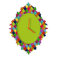 DENY Designs Home Accessories | Sharon Turner Neon Keyboard Baroque Clock