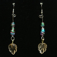 Colors of the wind - nature- pink- beaded earrings Pocahontas Inspired
