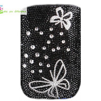 Free shipping iphone 4 case , iphone 4s case , case for Iphone 4 mobile Case handmade: Leather full diamond butterfly i89050273 (custom are welcome)