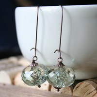 Green Lantern Translucent Crystal Earrings